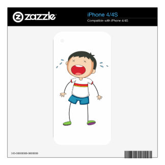 Boy crying decals for iPhone 4S
