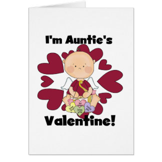 Boy Cupid Auntie's Valentine Tshirts and Gifts Card