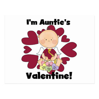 Boy Cupid Auntie's Valentine Tshirts and Gifts Postcard