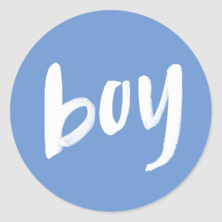 Boy | Custom Color Gender Reveal Party Stickers