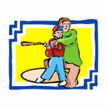 Boy & Dad Baseball Cut Outs