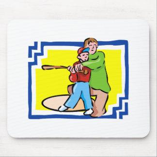 Boy & Dad Baseball Mouse Pad