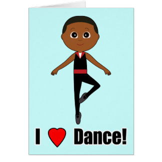 Boy Dancer:Thank You for Coming to See Me Dance Greeting Card