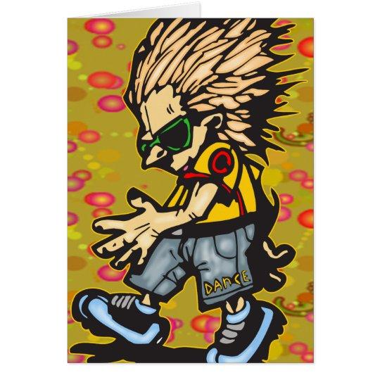 Boy Dancing Card