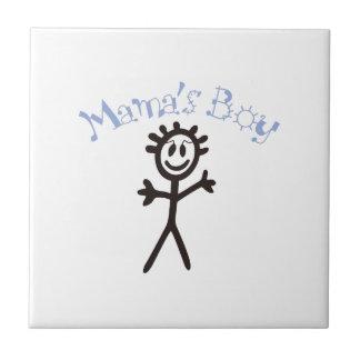 Boy de mamá azulejo cuadrado pequeño