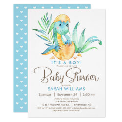 Boy Dinosaur Baby Shower Invitation