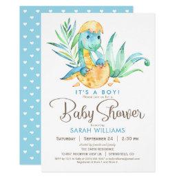 dinosaur baby shower invitations announcements zazzle