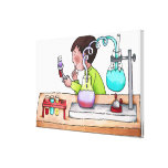 Boy Doing Science Experiment Stretched Canvas Print