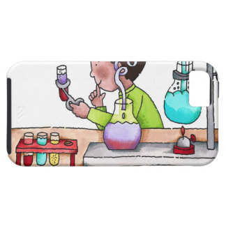 Boy Doing Science Experiment iPhone 5 Cover