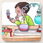 Boy Doing Science Experiment Drink Coasters