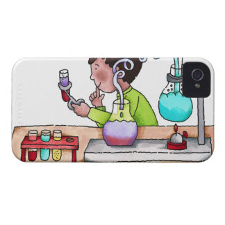 Boy Doing Science Experiment iPhone 4 Cover