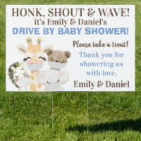 Boy Drive By Baby Shower Sign