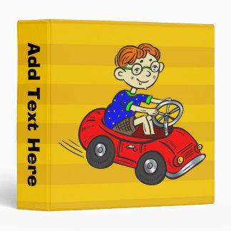 Boy Driving Toy Car Binder