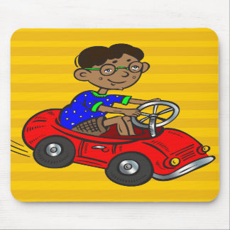 Boy Driving Toy Car Mouse Pads