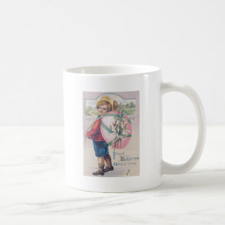 Boy Easter Colored Egg Flowers Coffee Mug