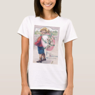 Boy Easter Colored Egg Flowers T-Shirt