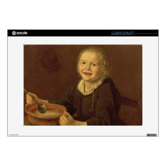 """Boy eating Porridge (oil on canvas) Skin For 15"""" Laptop"""