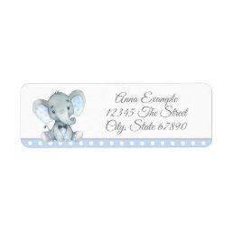Boy Elephant Address Labels
