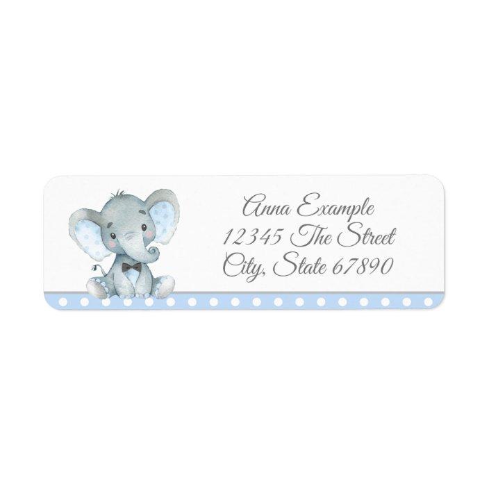 30 Custom American Elephant Personalized Address Labels