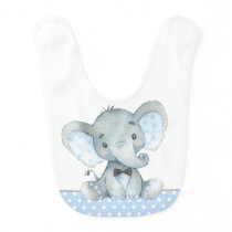 Boy Elephant Baby Bibs