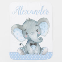 Boy Elephant Baby Blankets