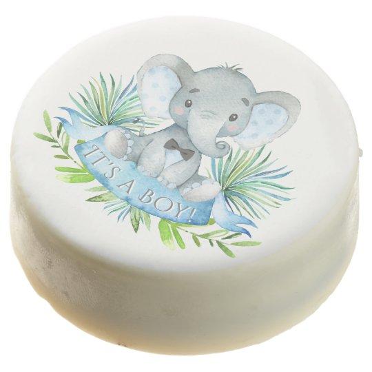 Boy Elephant Baby Shower Cookies Zazzlecom