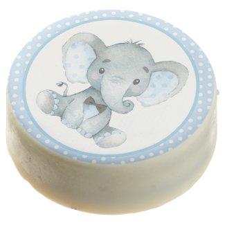 Boy Elephant Baby Shower Cookies