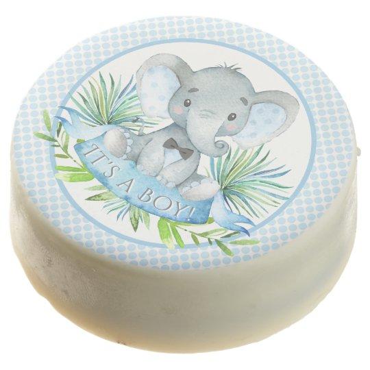 Boy Elephant Baby Shower Dipped Oreo Cookies Zazzle Com