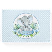 Boy Elephant Baby Shower Guest Book