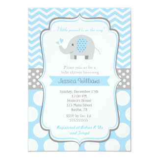 Elephant Baby Shower Invitations Boy – diabetesmang.info