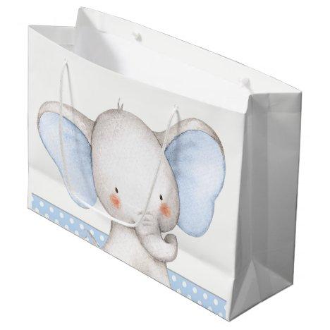 Boy Elephant Baby Shower Large Gift Bag