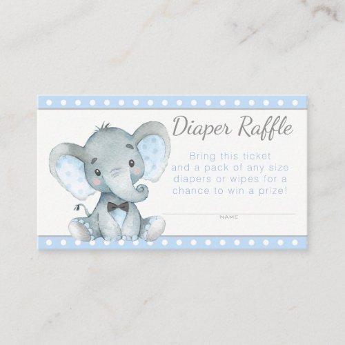 Boy Elephant Diaper Raffle Tickets Enclosure Card