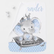 Boy Elephant Prince Baby Blankets