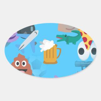 boy emoji oval sticker