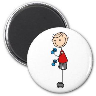 Boy Exercising Magnet Refrigerator Magnets