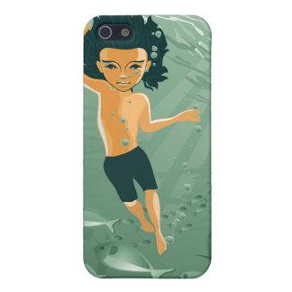 boy exploring underwater iPhone 5/5S case
