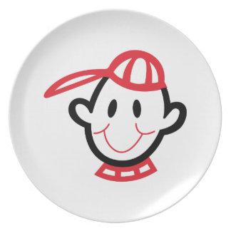 Boy Face Melamine Plate