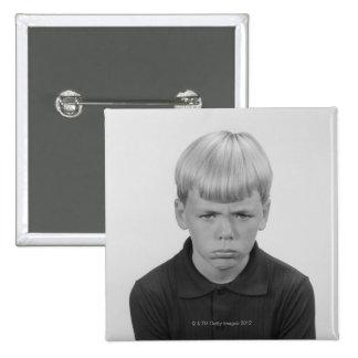 Boy Facial Expressions Pinback Button