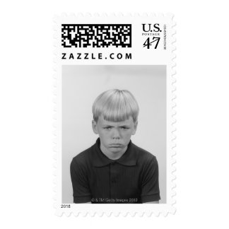 Boy Facial Expressions Postage