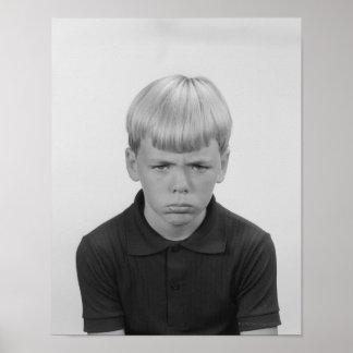 Boy Facial Expressions Print