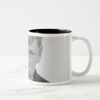 Boy Facial Expressions Two-Tone Coffee Mug