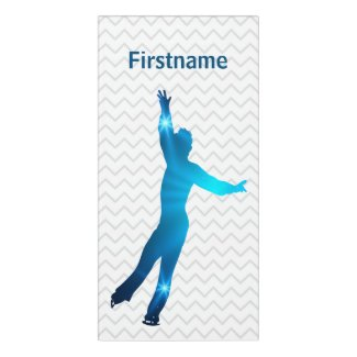 Boy figure skater bedroom sign - blue stars