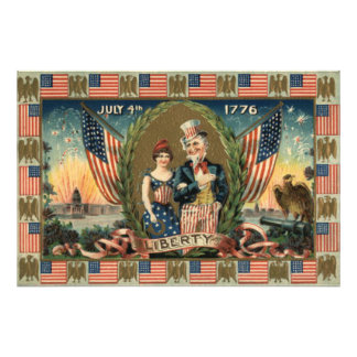 Boy Firecracker Fireworks US Flag Photo Print