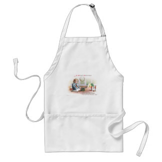 Boy Firing Cannon at Toy Soldiers at Christmas Apron
