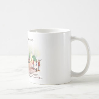 Boy Firing Cannon at Toy Soldiers at Christmas Coffee Mug