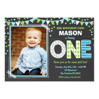 boy first birthday invitations & announcements | zazzle, Birthday invitations