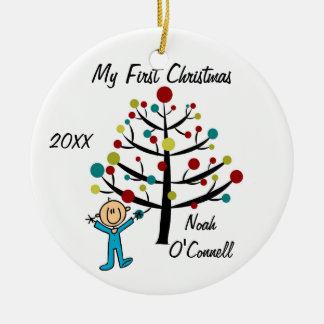 Boy First Christmas Customized Ornament