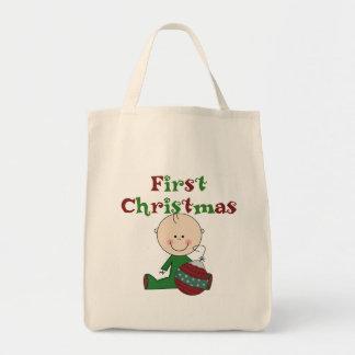 Boy First Christmas Tote Bag