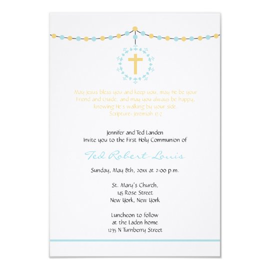 boy first communion invitation zazzle com