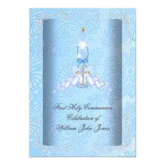 Boy First Holy Communion Blue Boys Card